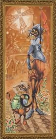 Набор для вышивания нитками на канве Дон Ки Кот и Санчо, , 241.00грн., СР6140, Новая Слобода (Нова слобода), Вышивка на дизайнерской канве