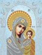 Схема для вышивки бисером на атласе  Казанская икона Божией матери
