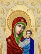 Схема для вышивки бисером на атласе  Казанская икона Божьей Матери. Венчальная пара