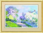 Рисунок на ткани для вышивки бисером Весенний пейзаж