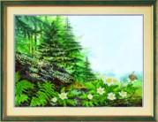 Рисунок на ткани для вышивки бисером Летний пейзаж