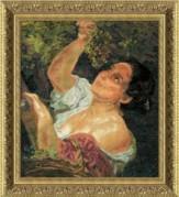 Набор для вышивки нитками Гроздь Винограда