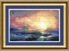 Набор для вышивки крестом Закат, , 239.00грн., 382, Чарiвна мить (Чаривна мить), Морская тематика