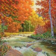 Рисунок на ткани для вышивки бисером Золотая осень