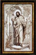 Набор для вышивки крестом Иисус, стучащий в дверь