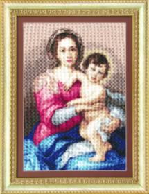 Набор для вышивки крестом Мадонна с младенцем, , 355.00грн., М-116, Чарiвна мить (Чаривна мить), Иконы