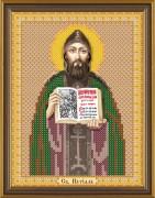 Рисунок на тканм для вышивки бисером Св. Кирилл