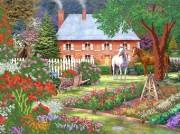Рисунок на атласе для вышивки бисером В саду