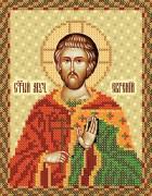 Рисунок на атласе для вышивки бисером Святой мученик Евгений
