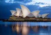 Рисунок на атласе для вышивки бисером Сиднейская опера