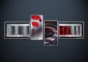 Полиптих. Рисунки на атласе для вышивки бисером Этюд с маками