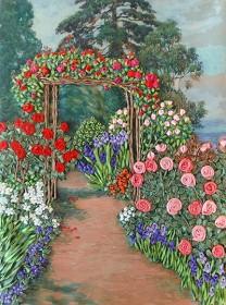 Набор для вышивки лентами Арка в розах, , 163.00грн., НЛ-3009, Марiчка (Маричка), Вышивка лентами