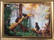 Набор для вышивки бисером Утро в сосновом лесу