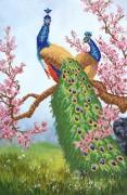 Рисунок на ткани для вышивки бисером Райский сад