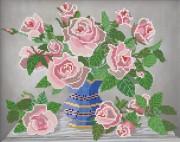Рисунок на ткани для вышивки бисером Розовые розы