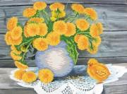Рисунок на ткани для вышивки бисером Одуванчиковое лето