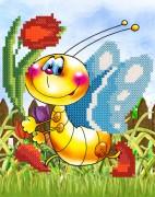 Рисунок на ткани для вышивки бисером Бабочка