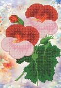 Рисунок на ткани для вышивки бисером Анютины глазки