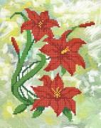Рисунок на ткани для вышивки бисером Лилии