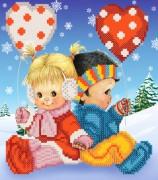 Рисунок на ткани для вышивки бисером Детская дружба