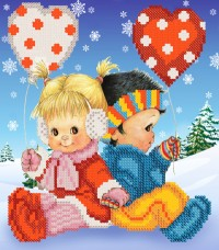 Рисунок на ткани для вышивки бисером Детская дружба Марiчка (Маричка) РКП-4-021