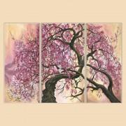 Рисунок на ткани для вышивки бисером (3 части) Сакура