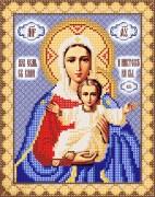 Рисунок на ткани для вышивки бисером Леушинская икона Божьей Матери