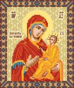 Рисунок на ткани для вышивки бисером Тихвинская икона Божьей Матери