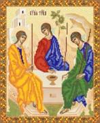 Рисунок на ткани для вышивки бисером Икона Святой Троицы