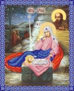 Рисунок на ткани для вышивки бисером Рождение Христово
