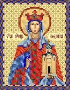 Рисунок на ткани для вышивки бисером Св. Мч. Людмила