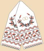 Рисунок на ткани для вышивки рушника