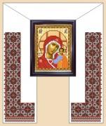 Рисунок на ткани для вышивания рушника Под Икону
