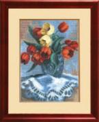 Набор для вышивки крестом Тюльпаны в вазе