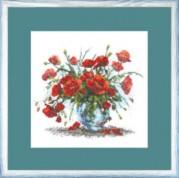 Набор для вышивки крестом Красный букет