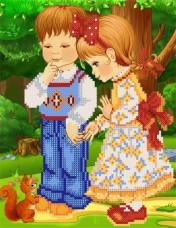 Рисунок на ткани для вышивки бисером Детки Марiчка (Маричка) РКП-4-034
