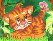 Рисунок на ткани для вышивки бисером Тигрёнок