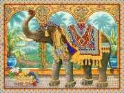 Рисунок на ткани для вышивки бисером Индийский слон