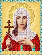 Схема для вышивки бисером на атласе Св. Мученица Лариса А-строчка АС5-013