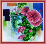 Набор для вышивки бисером Цветочная акварель-2