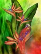 Рисунок на габардине Птица джунглей