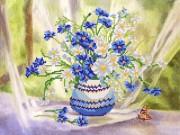 Рисунок на атласе для вышивки бисером Полевой букет