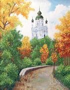 Рисунок на ткани для вышивки бисером Тихая осень