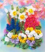 Набор для вышивки лентами Первоцветы