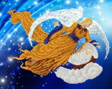 Рисунок на атласе для вышивки бисером Ангел - Хранитель