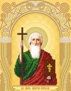 Рисунок на атласе для вышивки бисером Св. Апостол Андрей Первозванный