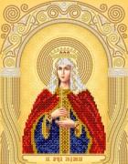 Рисунок на атласе для вышивки бисером Св. Мученица Людмила