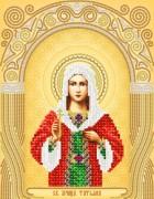 Рисунок на атласе для вышивки бисером  Св. Мученица Татьяна