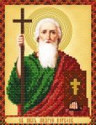 Схема для вышивки бисером на атласе  Св. Апостол Андрей Первозванный
