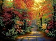Рисунок на габардине для вышивки бисером Осенний парк